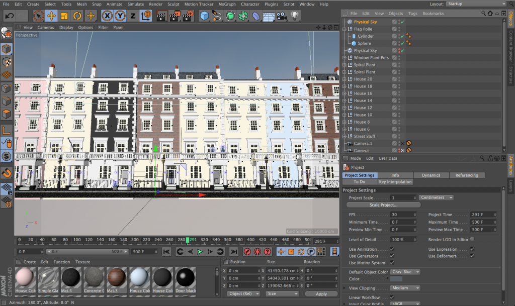 Cinema4d Houses